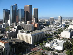 Bunker Hill Arial View Downtown Los Angeles